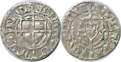 1422-1441 Prussia Teutonic Knight's Order Paul von Russdorf Silver Shilling