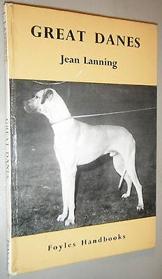 Signed Foyles Handbook Great Danes Jean Lanning 1st Edition 1961