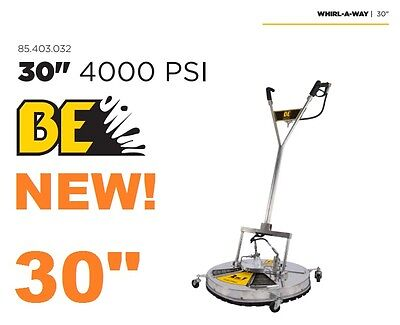 """BE Pressure Whirl-A-Way 30'' FLAT Surface Cleaner Washer - Concrete Cleaner 30 """""""