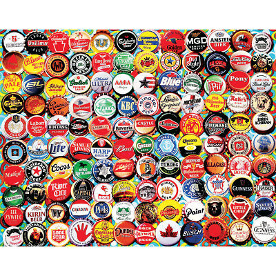 "Jigsaw Puzzle 550 Pieces 18""X24"" Beer Bottle Caps WM995"