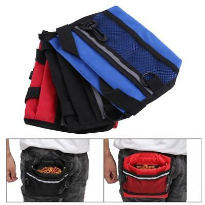 Dog TrainingTreat Pouch Snack Bag Feed Bait Mesh Pouch with Belt Clip & Clicker