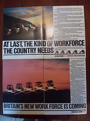 2x David Brown/Case Tractor Adverts 1979 Free UK Postage Not Brochure/leaflet