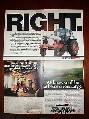 3x David Brown/Case Tractor Adverts 78-80 Free UK Postage Not Brochure/leaflet