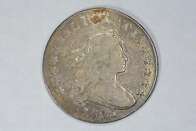 1798 Large Eagle Bust Silver Dollar Vf Details Repaired Hole Very Nice Coin