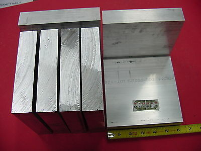 """7 pieces 1-1/4"""" X 6"""" ALUMINUM 6061 FLAT BAR 6"""" long Solid T6511 Plate Mill Stock"""