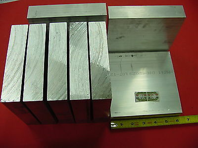 """8 pieces 1-1/4"""" X 6"""" ALUMINUM 6061 FLAT BAR 6"""" long Solid T6511 Plate Mill Stock"""