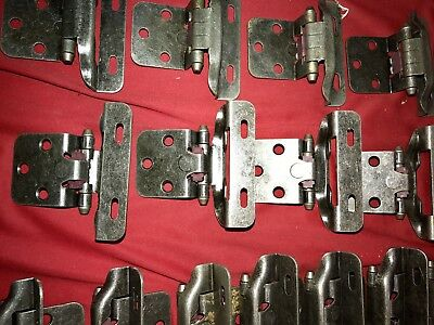20 Pair *40*Hinges Partial Wrap Self Closing Cabinet Hinge 3/8 Inset 3/8 Overlay