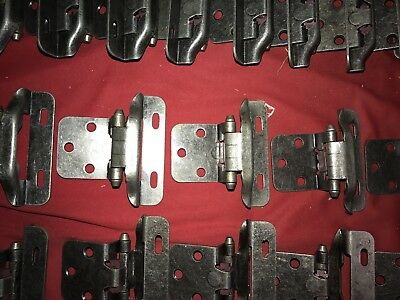 10 Pair *20*Hinges Partial Wrap Self Closing Cabinet Hinge 3/8 Inset 3/8 Overlay