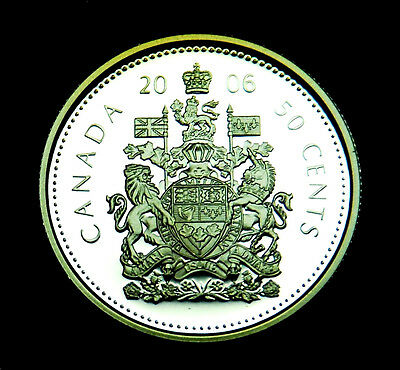 Canadian 2006 50¢ silver proof coin taken from proof set