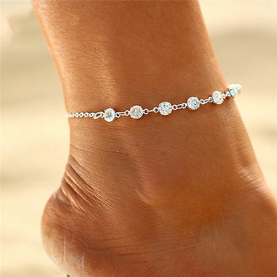 Fashion Jewelry Silver Or Gold Plated Rhinestone Anklet Ankle Bracelet 30-8