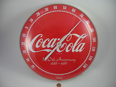 Coca-Cola 100 Year Anniversary Thermometer 1886-1986 Tru Temp