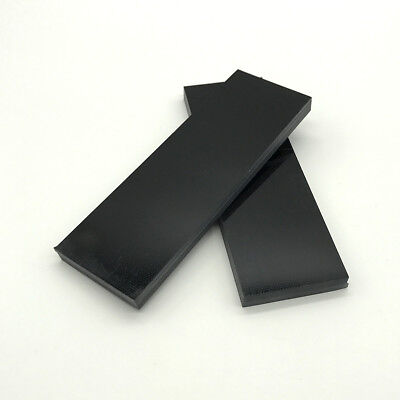 "2 Pieces Of .31"" Black Paper Micarta Knife Handle Material Scales 1.5"" x 4.7"" ER"