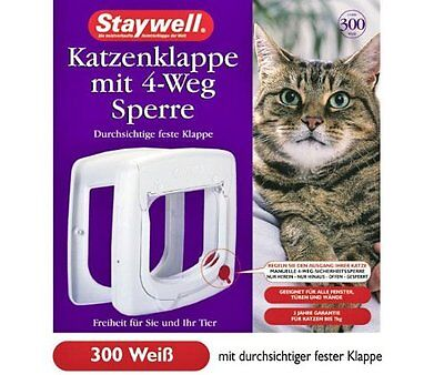 Staywell 300 Chatière - Blanc, pour chats, chat porte