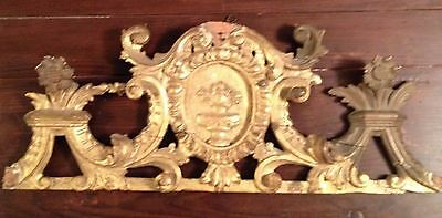 Italian 17th Century Hand Carved Gilded Over door Architectural Element