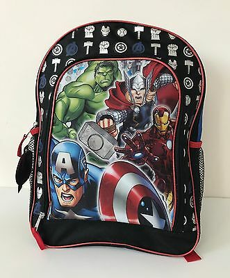 "NEW Marvel Avengers Age of Ultron 16"" Large Canvas Book Bag School Backpack"