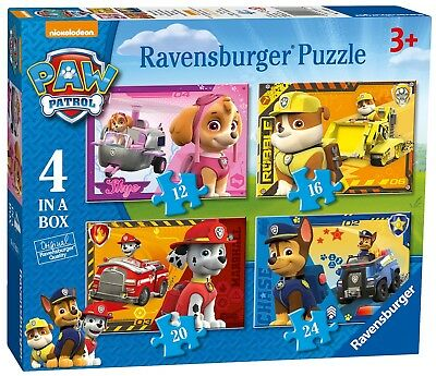 Jigsaw Puzzles Paw Patrol Characters 4 In A Box 12 16 20 24Pcs Kids Toddler Toys