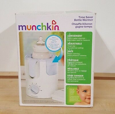 NEW Munchkin Time Saver Bottle Warmer For Baby Bottles or Baby Food