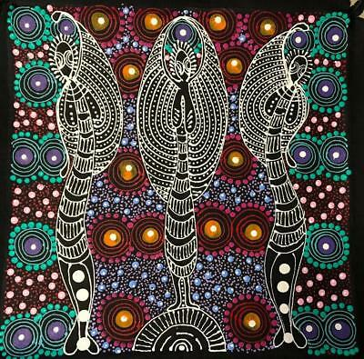 Colleen Wallace Nungarrayi - Dreamtime Sisters - Gallery Quality Aboriginal Art