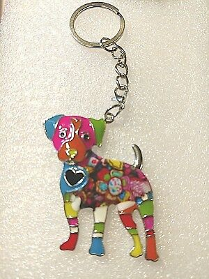 Multicolor Dog Jewelry Standing Pup Pendant Necklace 18""