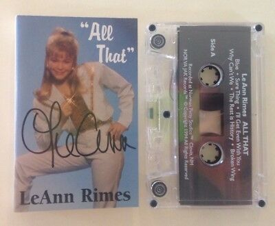 "LEANN RIMES ""All That"" Rare Signed Autographed Nor Va Jak Country Cassette Tape"