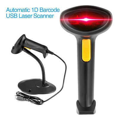 Welquic USB Automatic Barcode Scanner Price Reader with Stand for PC Android iOS