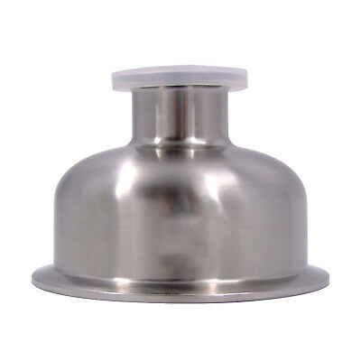 """HFS 1.5"""" X 3"""" Sanitary Tri Clamp Bowl Reducer - Stainless"""