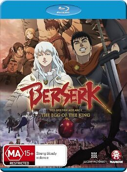 Berserk Movie 1: The Egg of the King - Toshiyuki Kubooka NEW B Region Blu Ray