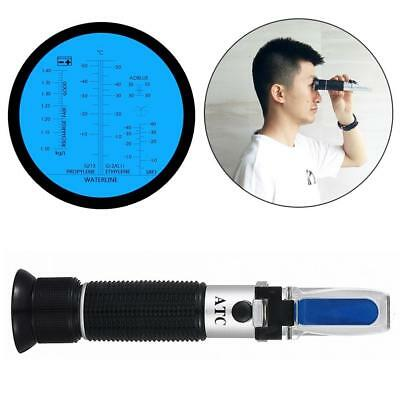 4 in 1 Car Adblue Urea Refractometer Battery Fluid Ethylene Propylene Glycol ATC