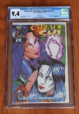 Cyblade / Shi: The Battle for Independents #1 - 1st Witchblade CGC 9.4 new case