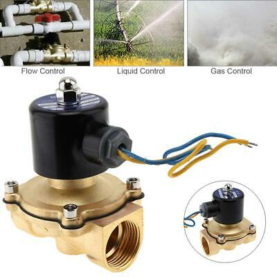 12V 1 inch Brass Electric Solenoid Valve Magnetic Water Air Normally Closed