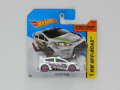 1:64 2012 Ford Fiesta - 2014 Hot Wheels Treasure Hunt Short Card - Made in Malay