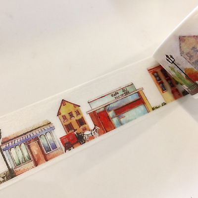 Washi Tape Wide About Town 25Mm Wide X 5Mtr Roll Scrap Plan Craft Wrap