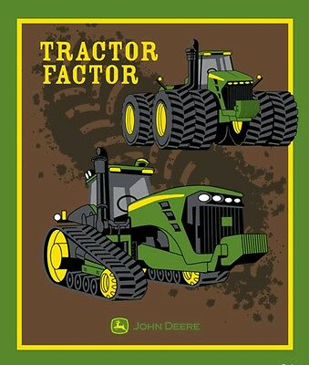 John Deere Quilt Panel * The Tractor Factor * New * Free Post *