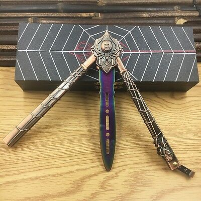 High Quality Practice Balisong Metal Butterfly Rainbow Combat Trainer Knife