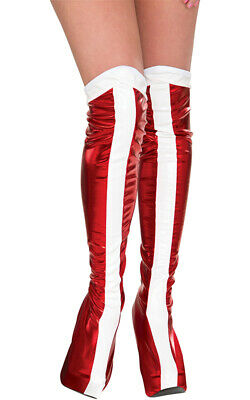 Licensed Wonder Woman Adult Womens Red Boot Tops Costume Accessory