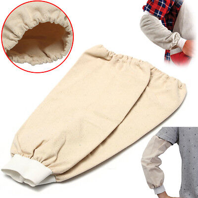 1 Pair 40cm Cotton Welding Arm Protection Welders Sleeves Flame Resistant Fabric