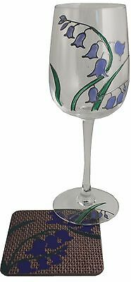 Bluebell Wine Glass and Coaster Gift Set