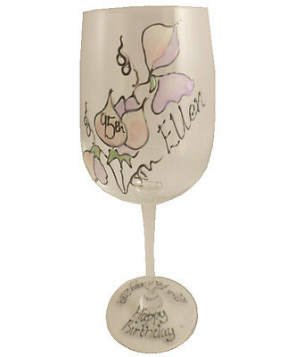 Personalised 95th Birthday Gift Wine Glass Sweetpea