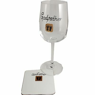 Godfather Wine Glass and Coaster Gift Set (Feet)