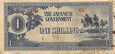 Oceania  1/-  ND.  1942  P 2a  WWII issue Block OC  Circulated Banknote