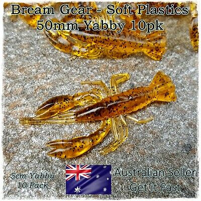 10 Soft Plastic Fishing Lure Prawn Yabby Shrimp Bream, Redfin, Whiting, Flathead