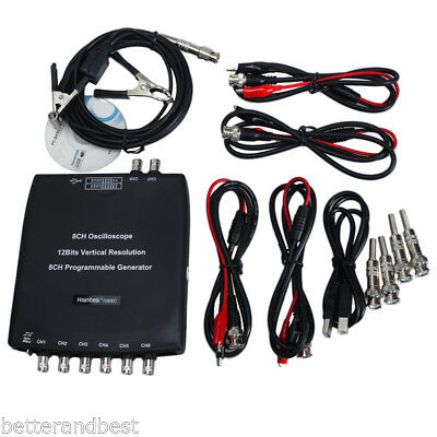 Hantek 1008C 8CH Automotive USB Diagnostic Oscilloscope DAQ Program Generator UK