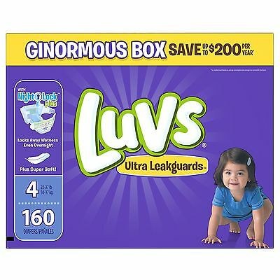 Luvs Ultra Leakguards Diapers Size 4 160 Count
