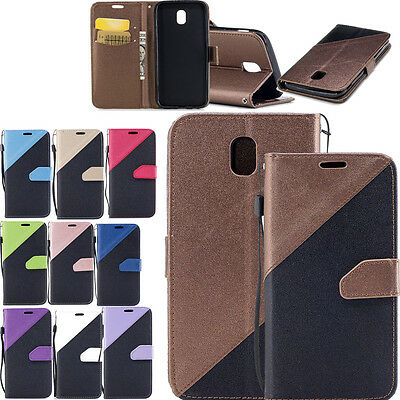 Hybrid PU Leather Wallet Flip Stand Case Cover For Samsung Galaxy J3 J5 J7 2017