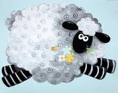Susybee Lewe The Lamb Playmat Quilt Panel * Cute * Free Post * 🐑