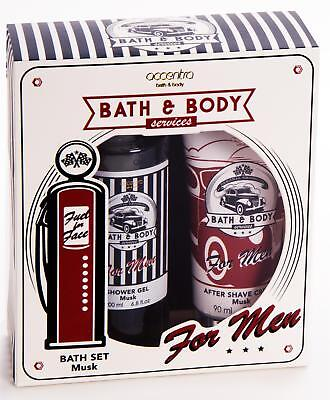 Geschenkset FOR MEN  BATH & BODY SERVICES Duschgel & After Shave Balsam Duschset