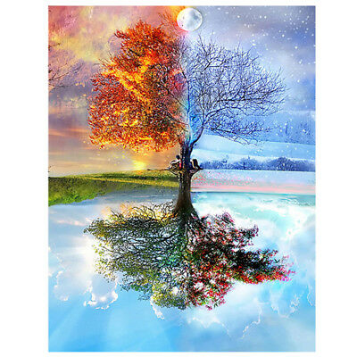 Wishing Tree DIY 5D Diamond Embroidery Painting Cross Stitch Craft Home Decor