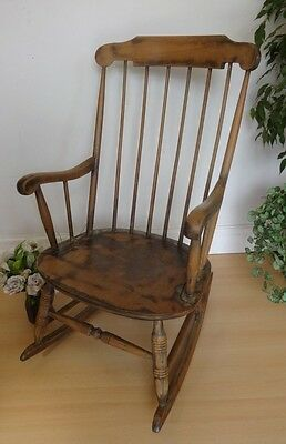 Lovely Vintage Wood Wooden Rocking Chair