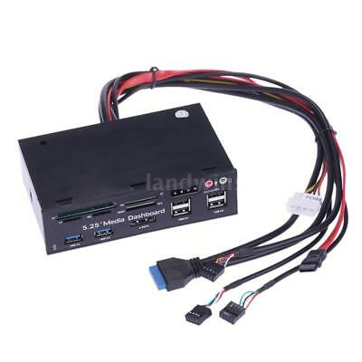 """5.25"""" All In 1 Media Dashboard Front Panel PC USB3.0/2.0 Multi Card Reader"""