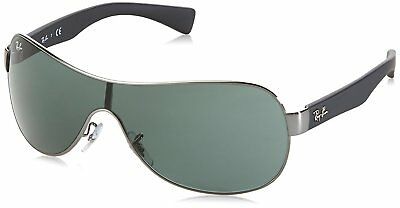 Ray-Ban RB3471 004/71 Gunmetal/Black Frame Green Classic Single Lens Sunglasses